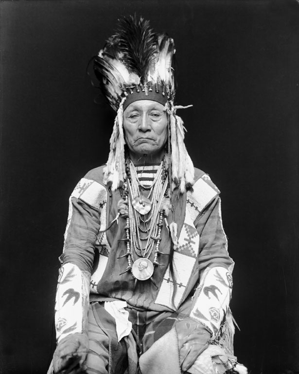 American Indians : Curly Bear - Blackfoot 1916.