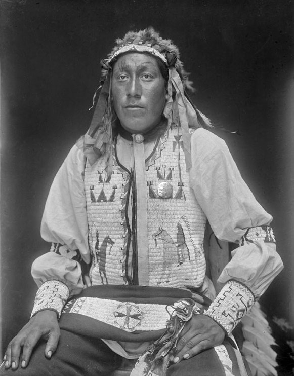 American Indians : George Two Lance - Mniconjou 1913.