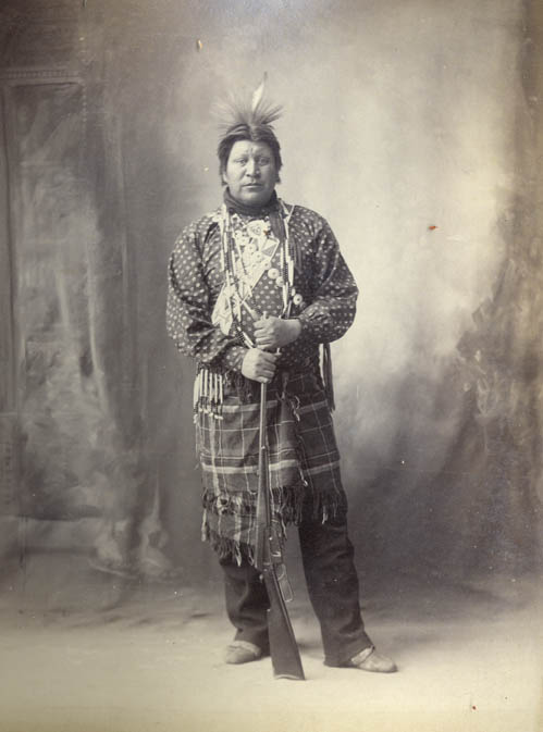 American Indians : Gray Horn - Omaha 1898.
