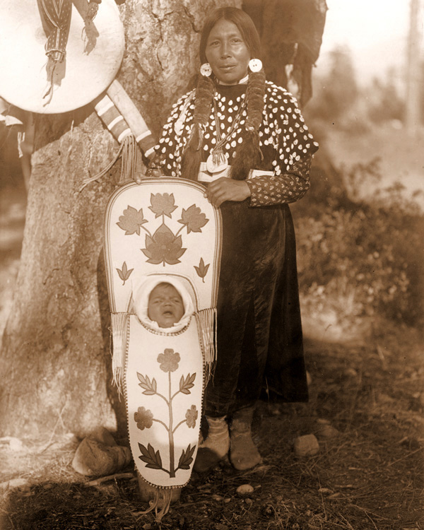 American Indians : Indian Woman with Papoose.