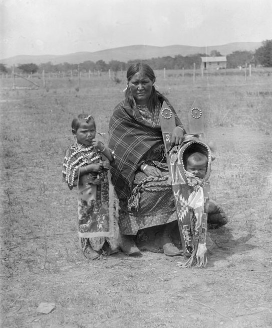 American Indians : Kiowa Woman and Children 1893.