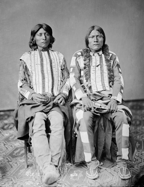 American Indians : Kwa Ko Nut and Mose - Ute 1873.