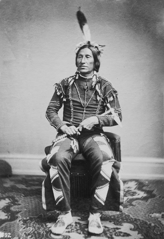 American Indians : Little Thunder - Yankton Dakota 1867.