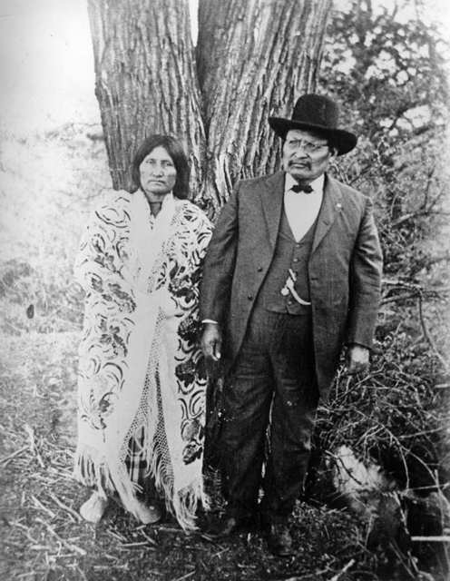 American Indians : Lone Wolf and Wife.