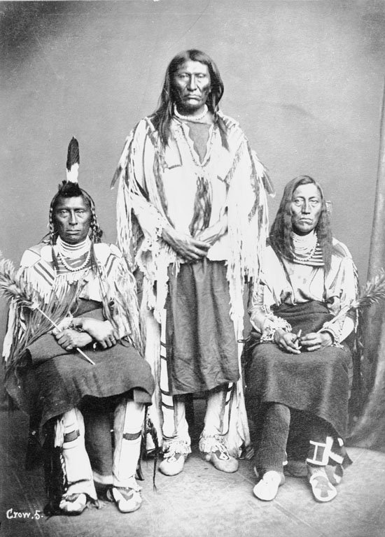 American Indians : Long Horse (Blackfoot) White Calf (Crow) 1873.