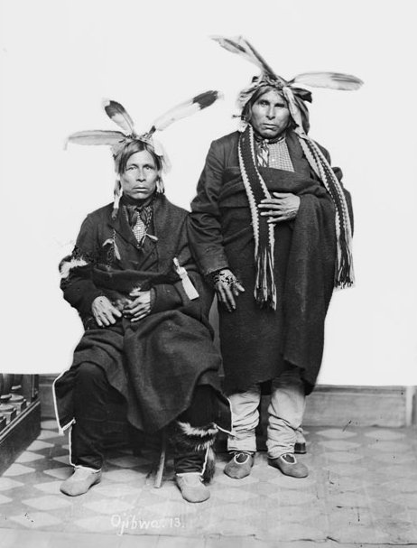 Maiadjiaush (Something Beginning To Sail Off) and Naboniqueaush (A Yellow Haired One Sailing Along) - Ojibwe