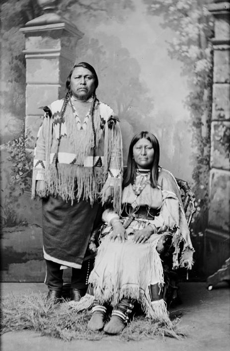 American Indians : Ouray and wife Chipeta - Ute 1878.