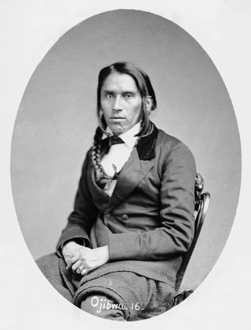 American Indians : Po Go Nay Ge Shick (Hole in the Day) - Ojibwe 1858.
