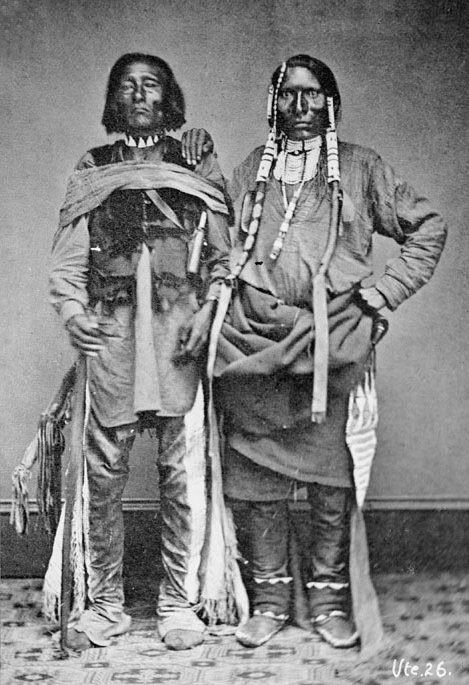 American Indians : Sappix and Son - Ute 1869.