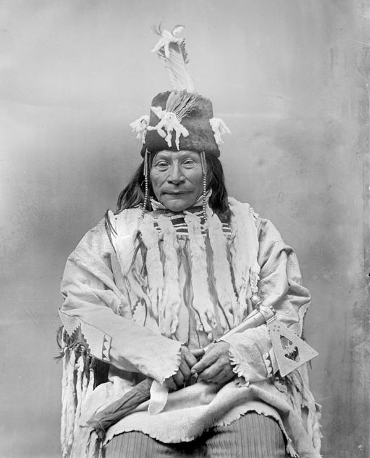 American Indians : Shorty White Grass - Blackfoot 1891.