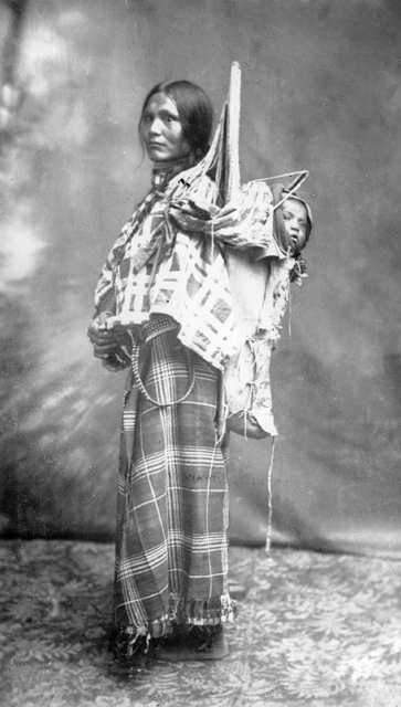 American Indians : Shoshone with Baby 1884.