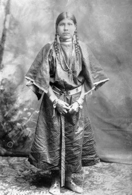 American Indians : Shoshone Woman 1884.