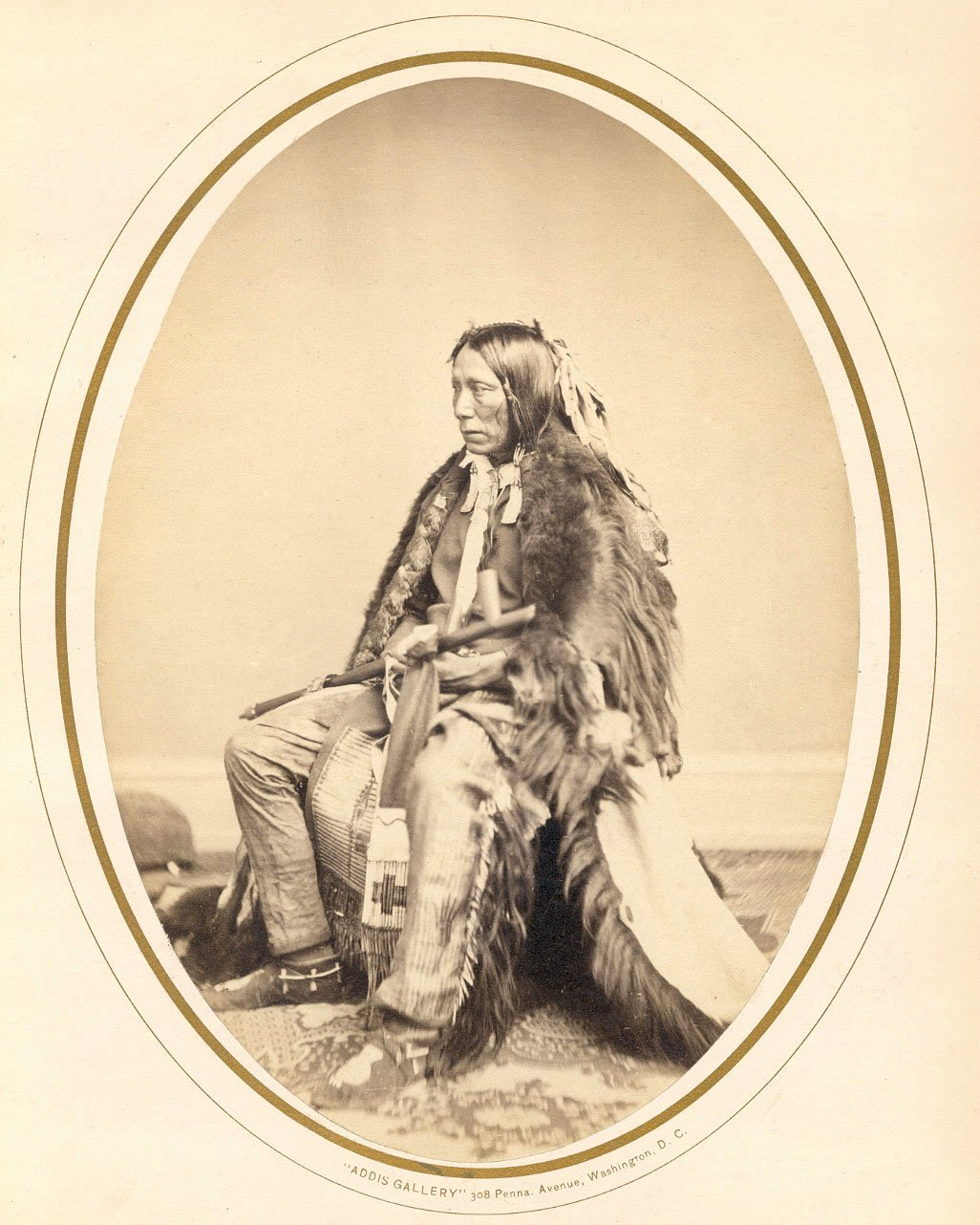 American Indians : Wi Ya Ko Mi (Feather In The Ear) - Yankton Sioux Chief 1867.