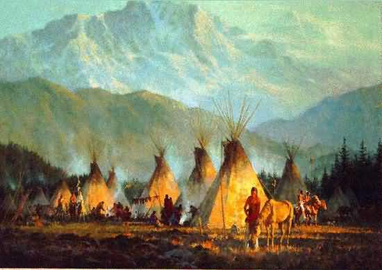 Howard Terpning - Crow Camp.