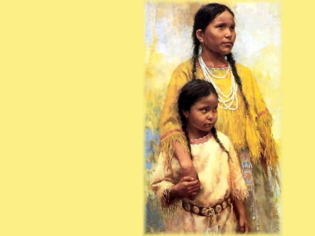Howard Terpning - Daughters of the Chief.