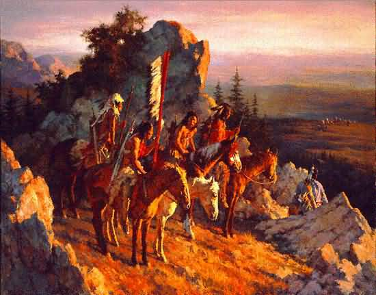 Howard Terpning - Gold Seekers to the Black Hills.