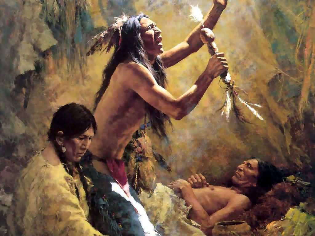 Howard Terpning - Medicine Man of the Cheyenne.
