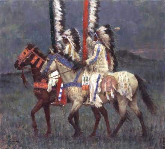 Howard Terpning - Prairie Knights.