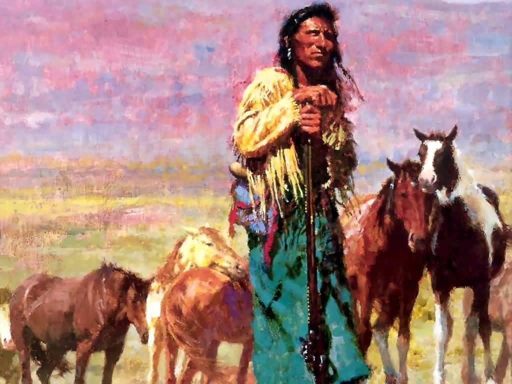 Howard Terpning - Shepherd Of The Plains.