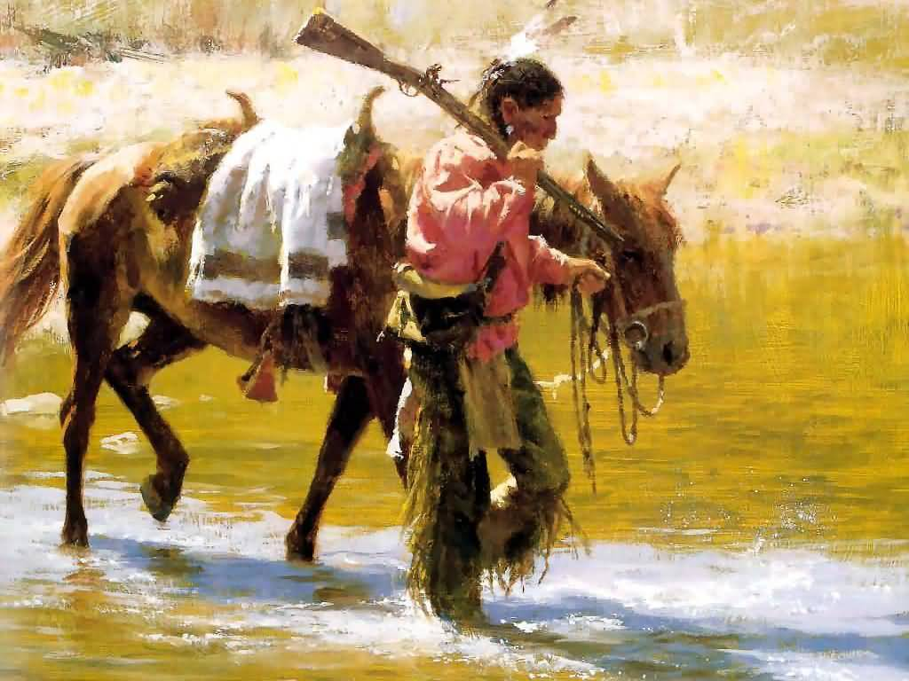 Howard Terpning - Trail With No Tracks.