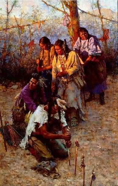Howard Terpning - Offerings To The Little People.