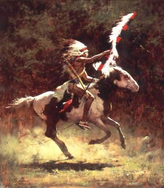 Howard Terpning - Sioux Flag Carrier.