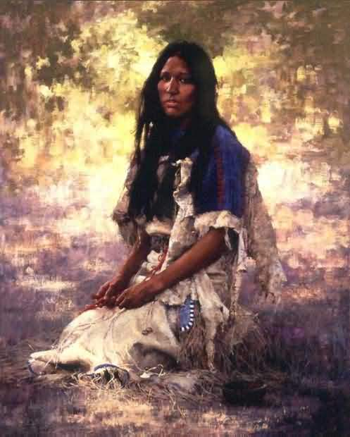 Howard Terpning - Woman Of The Sioux.
