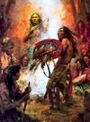 Howard Terpning. Transferring The Medicine Shield
