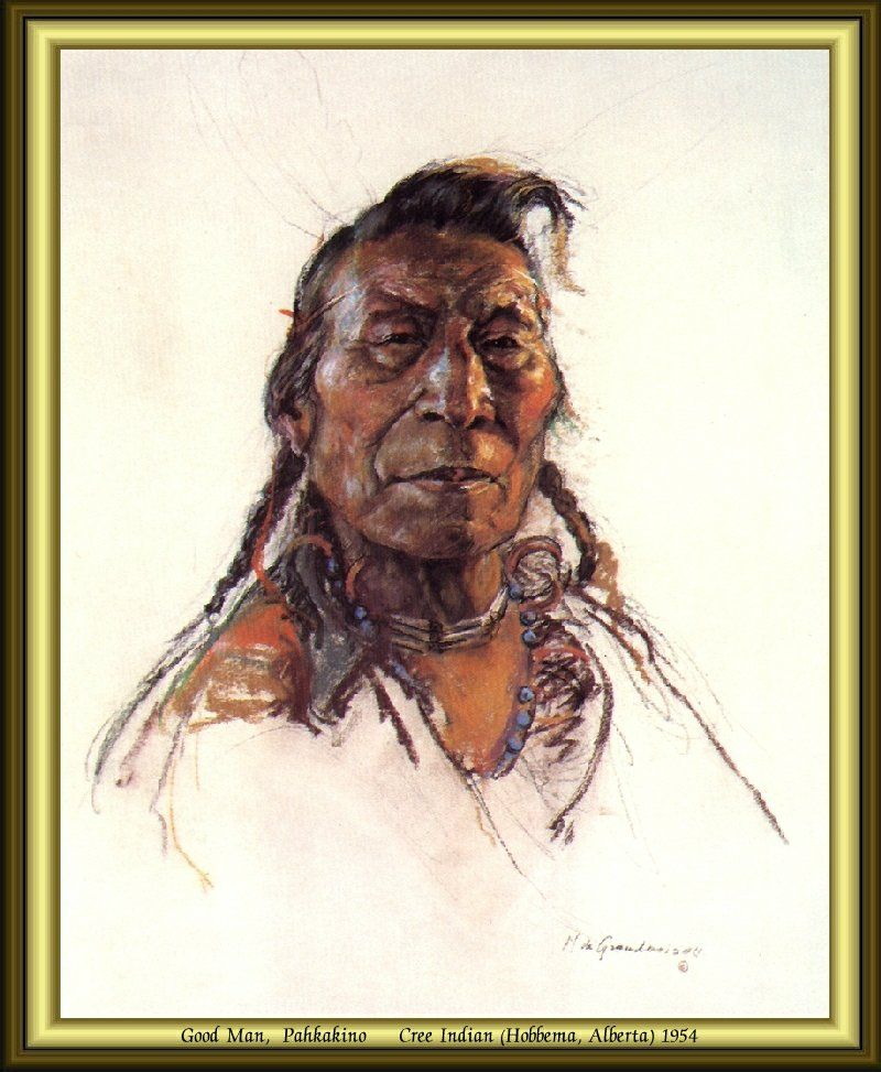 Good Man, Pahkakino - Cree Indian (Hobbema, Alberta) 1954 by Nicholas de Grandmaison.