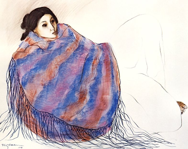 Rudolph Carl Gorman - Sandra's New Blanket.