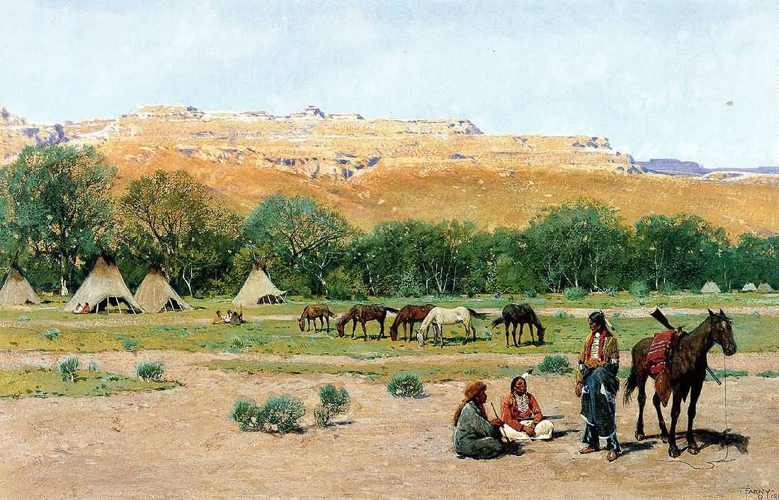 Henry Farny : Indian Encampment.
