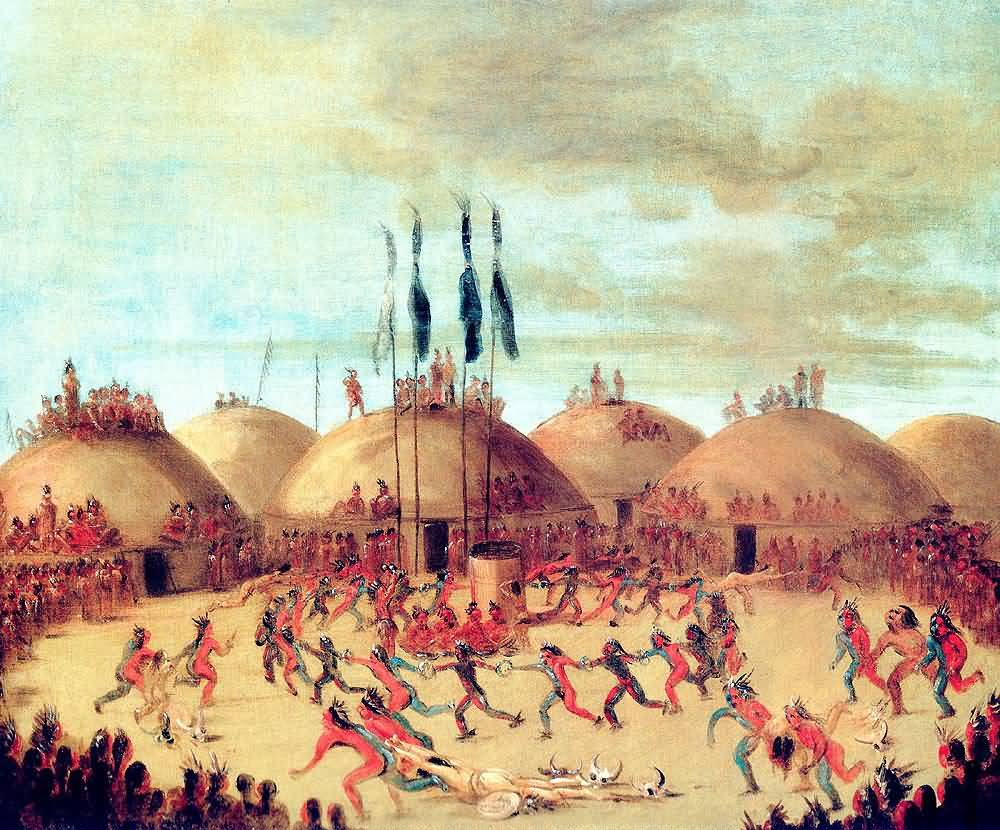 George Catlin : The Last Race Mandan O-Kee-Pa Ceremony.