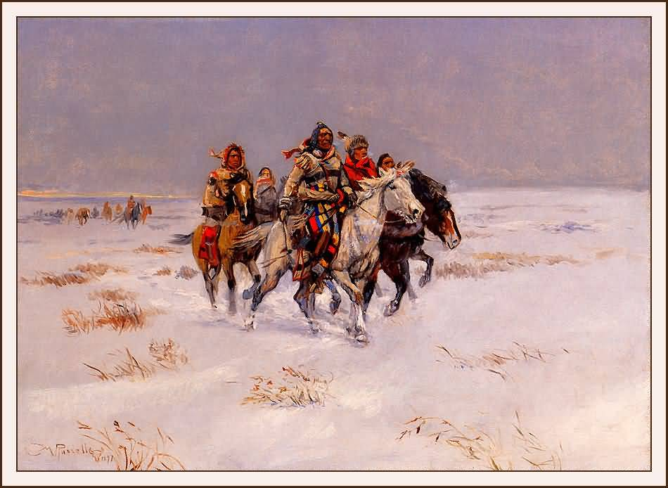 Charles Marion Russell : The Snow Trail.