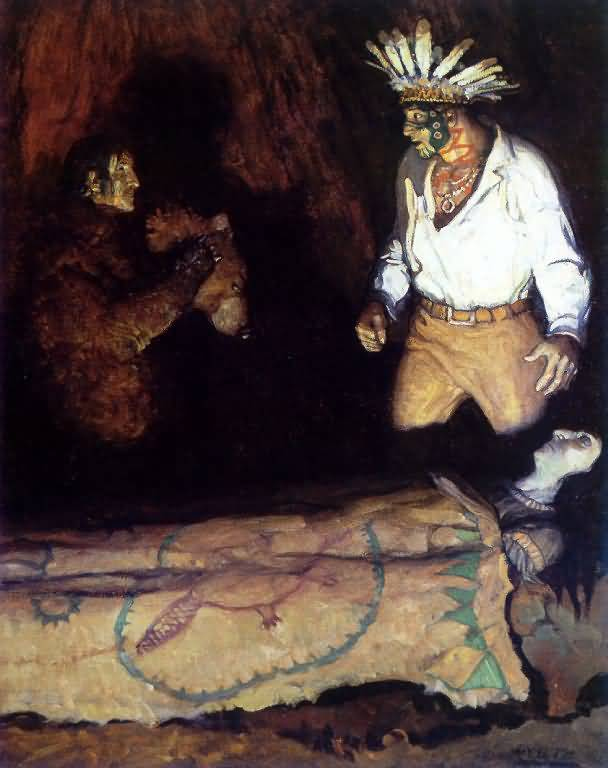 Newell Convers Wyeth : The Masquerader.