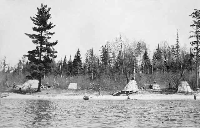 A Chippewa Indian Camp on the Rainy River.