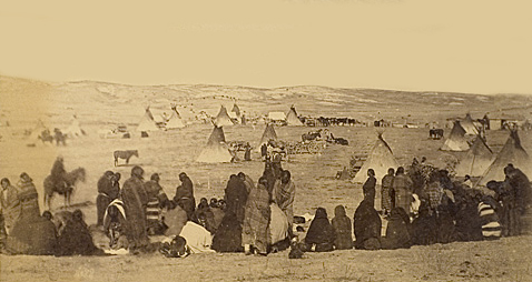 Chief Little Wound's Camp - Oglala Sioux 1890.