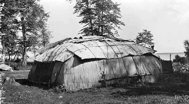 Native American Home, Mille Lacs Lake.
