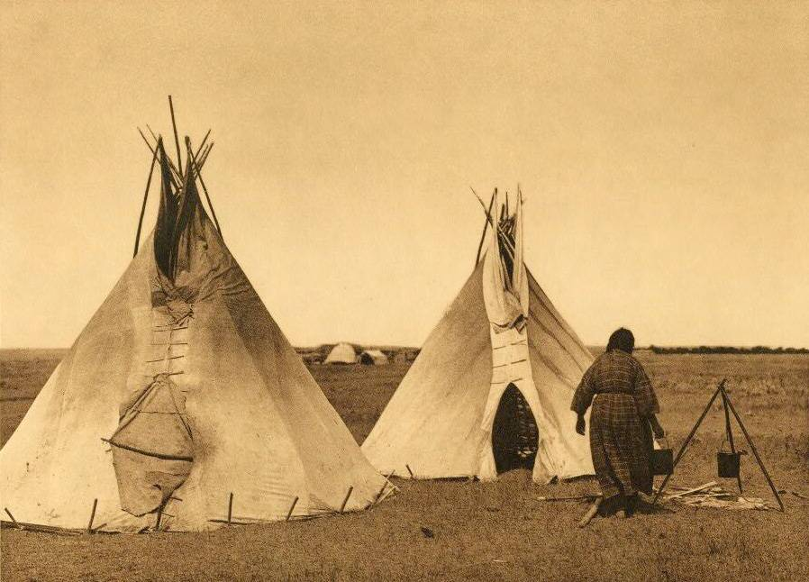 tipi (teepee or tepee) photograph : A Prairie Camp.