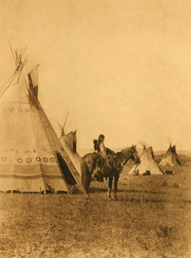 tipi (teepee or tepee) photograph : An Assiniboin Chiefs Son.