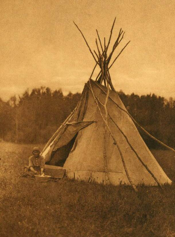 tipi (teepee or tepee) photograph : A Chipewyan Tent.