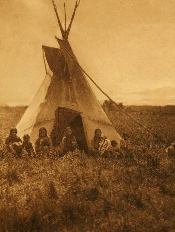 tipi (teepee or tepee) photograph : Chipewyan Berry Pickers in Camp.
