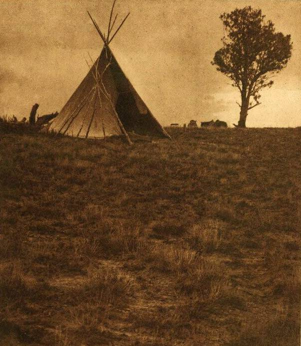 tipi (teepee or tepee) photograph : Jicarilla Lone Tree Lodge.
