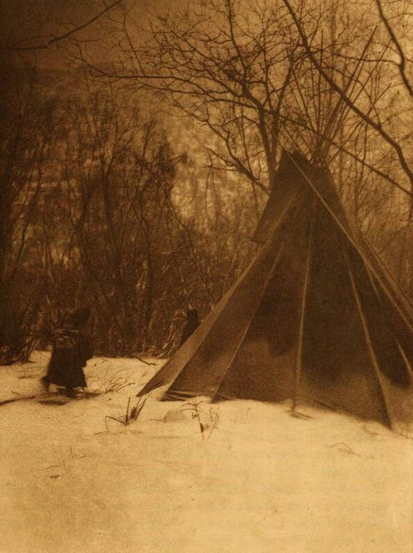tipi (teepee or tepee) photograph : When Winter Comes.